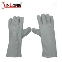 Cow Split Electric leather hand working gloves