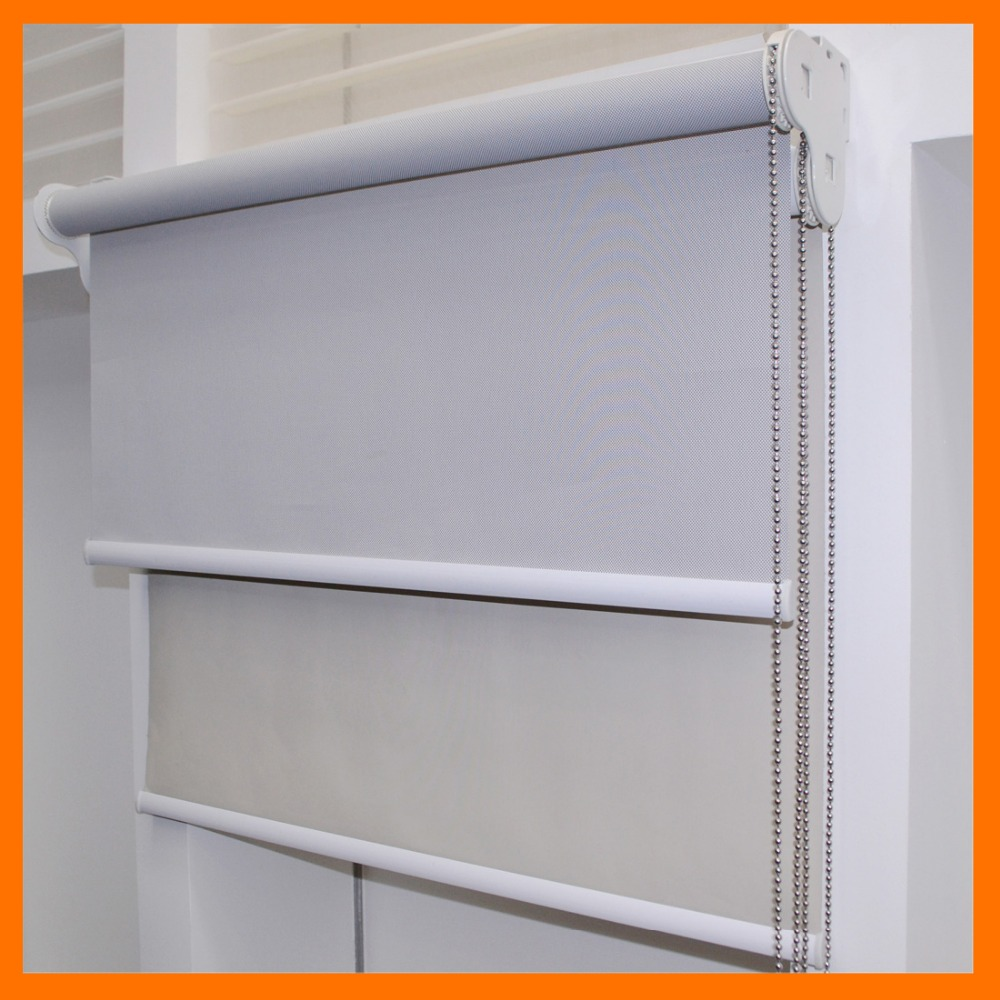 Double Layer Day And Night Dual Roller Blind Blackout And