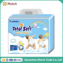 High absorption breathable pe film baby diaper stocklots