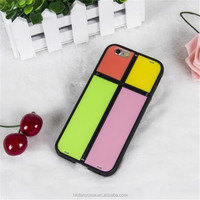 For iphone6 2 in 1 phone case magic cube phone cover with kickstand case