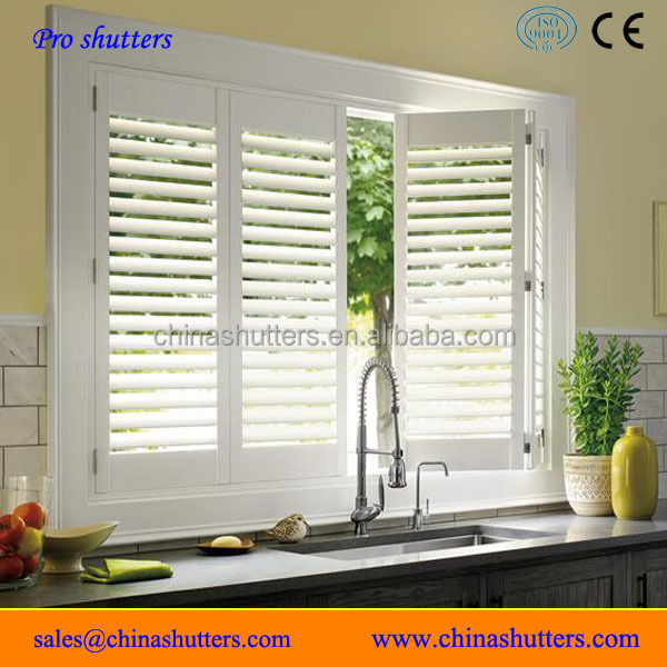 Latest design kitchen plantation window shutters from China