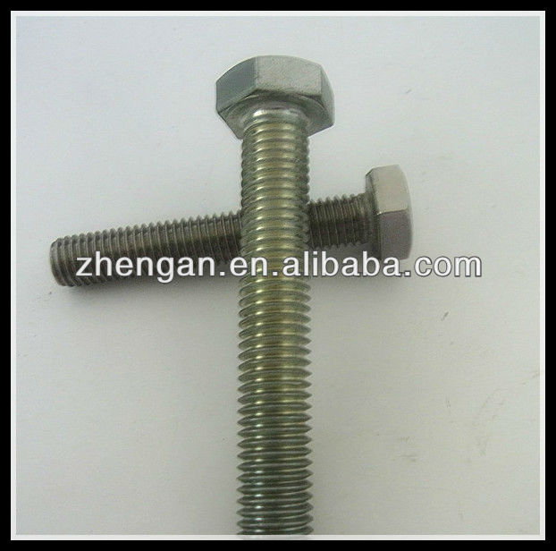 steel hex bolt dimensions