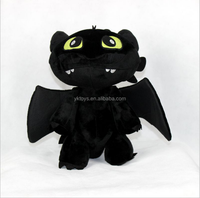 How to Train Your Love Black Dragon Toothless plush toy
