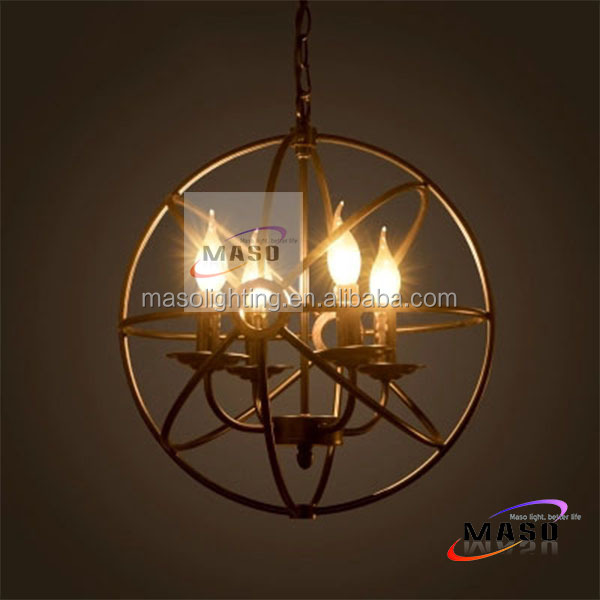 Vintage Loft style Industrial pendant lamp Decorative Metal Ball shape Hanging Lamp with E14