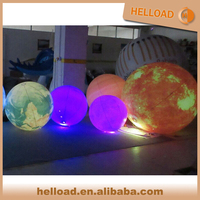 wholesale led moon light ball, inflatable nine solar systerm planet balloon for event