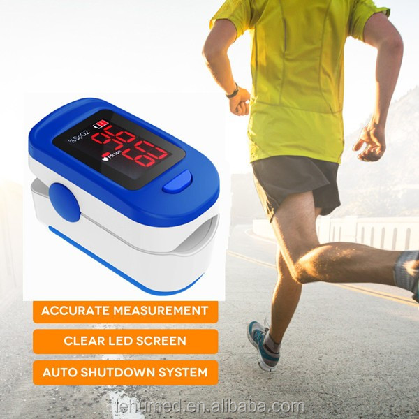 FDA Approved Finger Portable Pulse Oximeter used to Spot Check SpO2 & Monitor Blood Oxygen Saturation. Batteries, LED Display