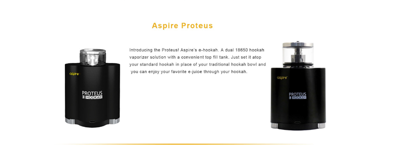 Hot Aspire Proteus Coil 0.25OHM E-Hookah Vape Kit 10ml Proteus Tank