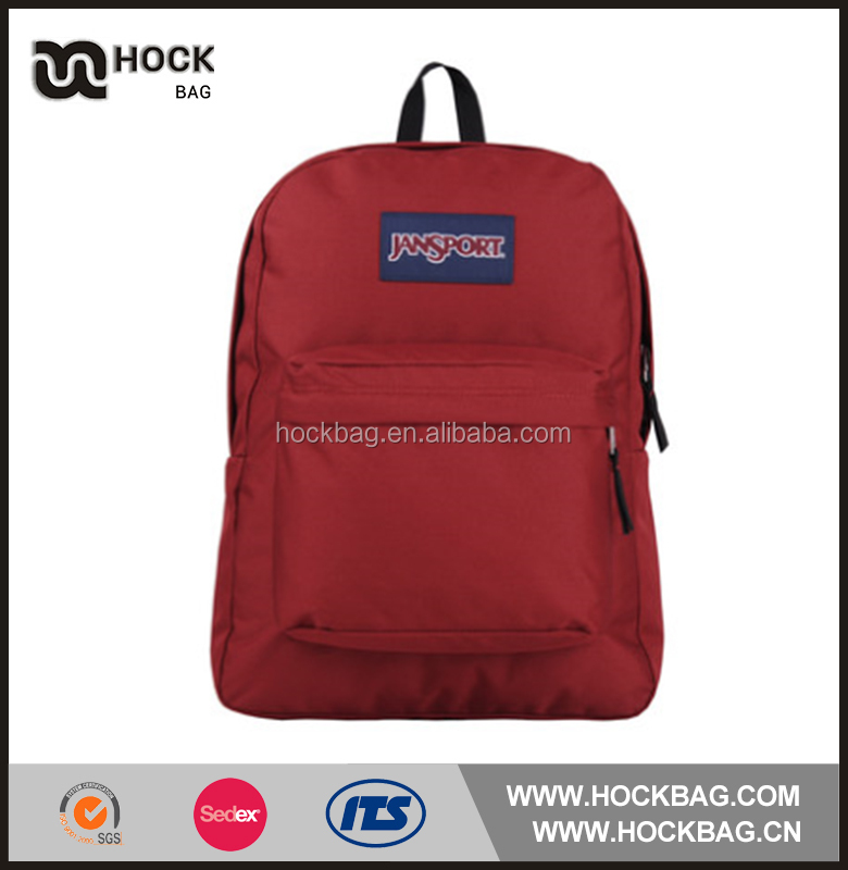 2017 new products light weight classic red daily folding / school backpack / backpack bag
