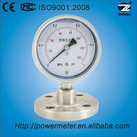100mm stainless steel diaphragm type gas meter pressure gauge
