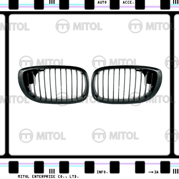 Carbon Fiber Front Grille for BMW E46 2D Car Grills Auto Accessories