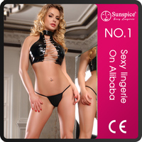 Sunspice top quality hot sales sexy mature belle leather fetish