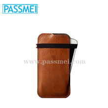 Top quality genuine leather case phone holder