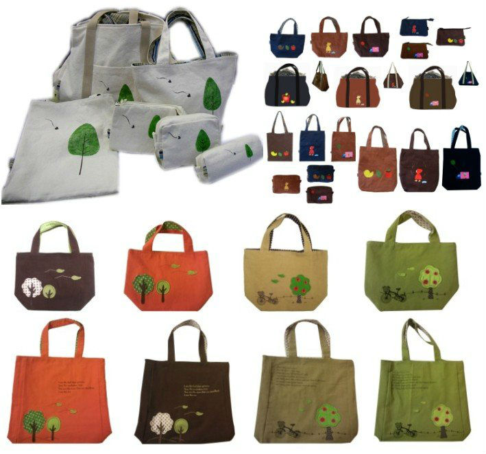 applique patchwork embroidery designs cotton fabric fashion canvas tote bag shoulder bag promotion bag (JB-P04)