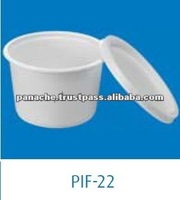 White Plastic Food Packaging Disposable Containers