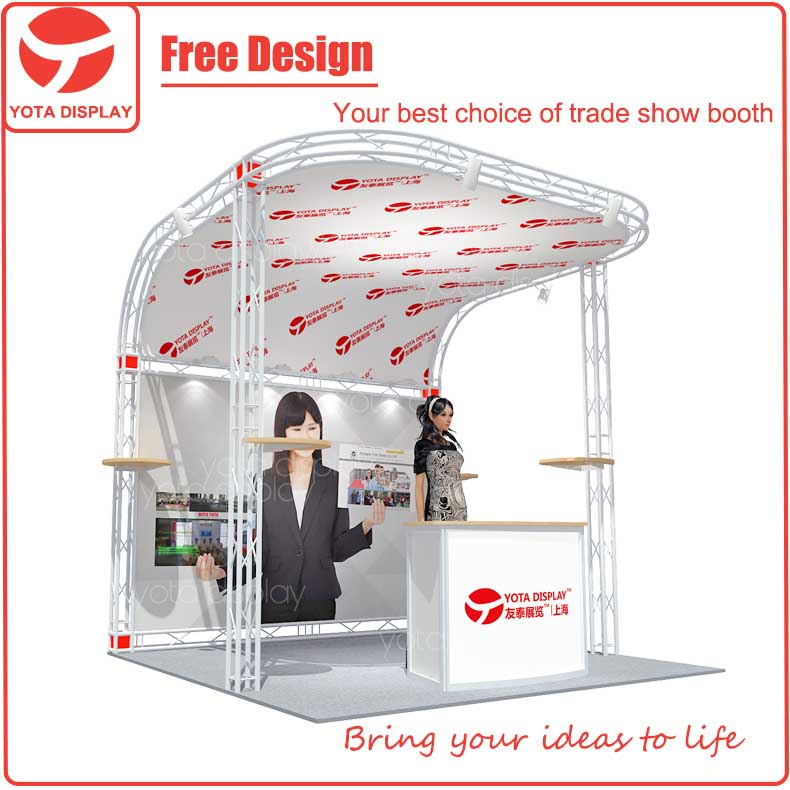 Yota offer 3x3m fabric wall custom exhibition tradeshow booth
