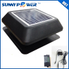 12 watt With thermostat switch Square solar attic fan and round exhaust fan