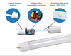 Retrofit led tube DLC listed high lumen 4ft 1200mm 12W 14W 18W plug N Play & bypass T8 glass led tube with 4000K 5000K