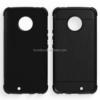 alpha design brushed metal collision avoidance antiskid tpu soft case for Moto X4 2017 mibole phone back cover