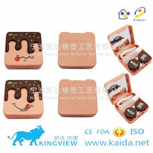 A-8103 wholesale cute cartoon Cosmetic contact lens case/mate box holder