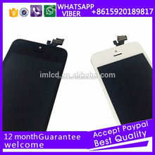 "cell phone parts mobile phone parts color lcd digitizer for iPhone 5"" display"