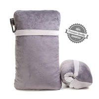Ultimate Comfort Rolled and Compact Shreded Memory Foam Camping Travel Pillow