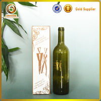 Popular shape good quality wholesale glass wine bottle