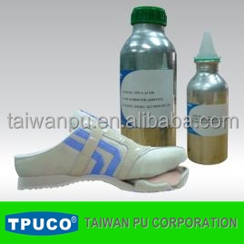 Water based PU polyisocyanate hardener for shoe adhesive
