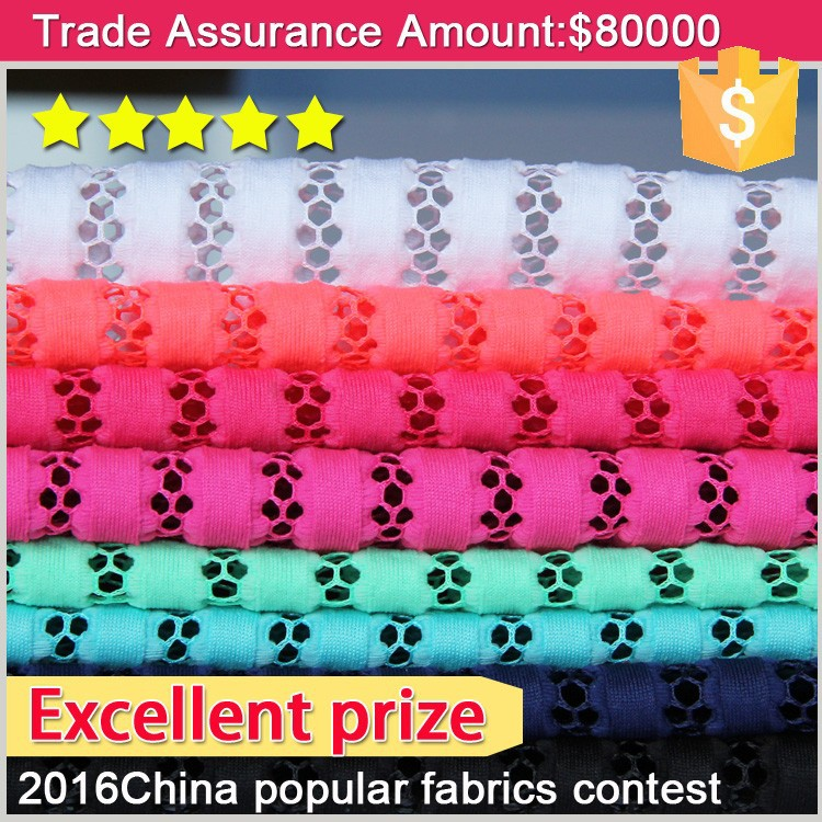 autumn winter popular <strong>china</strong> new design custom cheap striipe knit mesh fabric