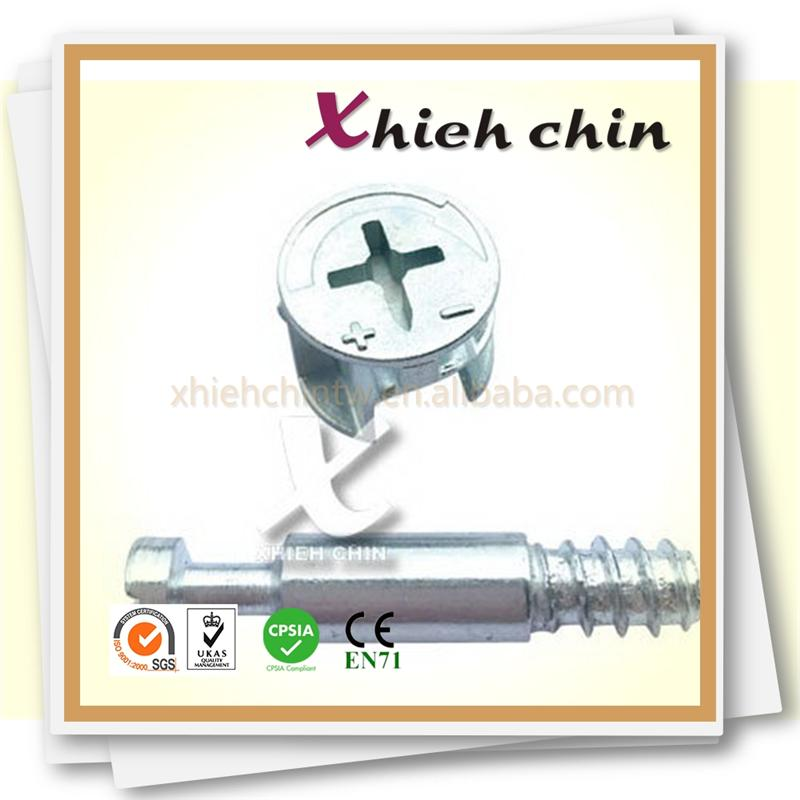 Furniture connecting hardware steel pin & zinc alloy cam Minifix