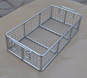 304 stainless steel wire mesh filter dehydration storage basket / tray with lid