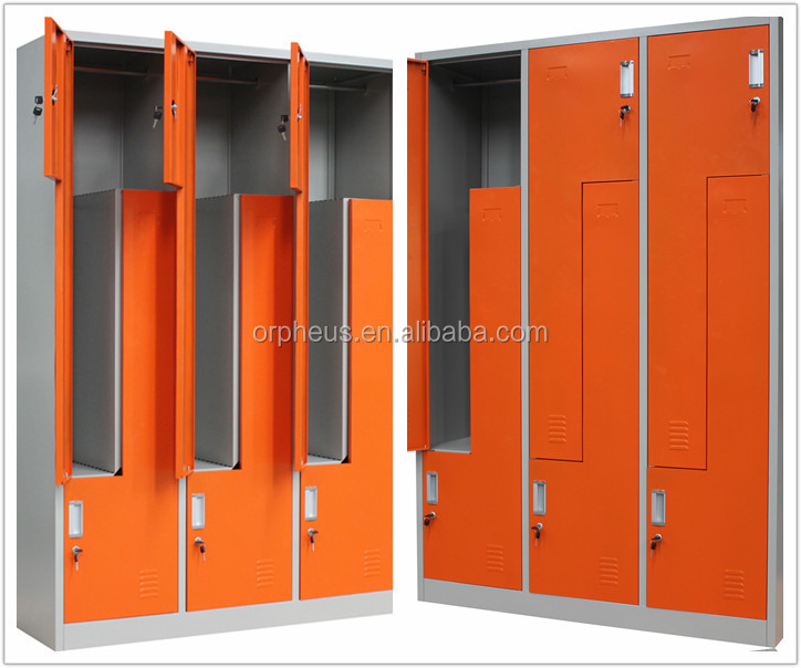 Luoyang Furniture Metal Lockers 6 Doors Z Locker Pub Center China Made Clothes Closet Store Furniture Clothing Steel Gym Cabinet