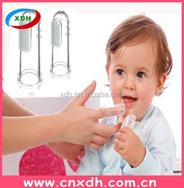 Alibaba express ho sales silicone rubber baby toothbrush