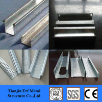galvanized light gauge keel steel with c,u,t shapes