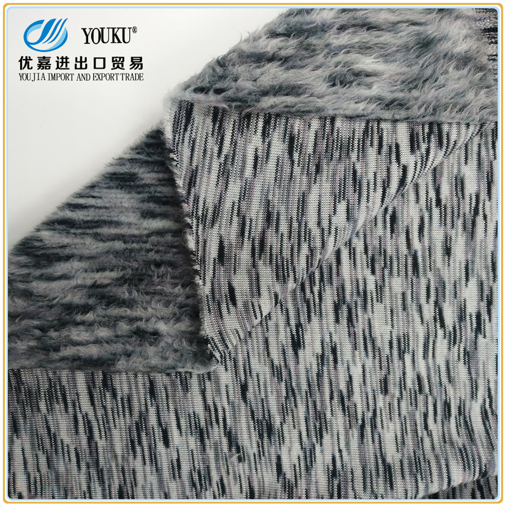 100% polyester yarn dyed fleece satin nap fabric one side brushed fleece fabric for sweater coat