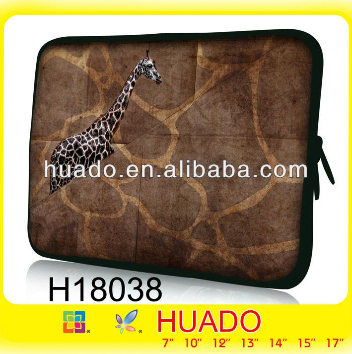 Functional laptop sleeve with protective inner and strong shoulder strap