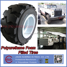 POLYURETHANE FOAM FILLED SOLID UNDERGROUND MINING MATERIAL HANDLING EQUIPMENT TIRES