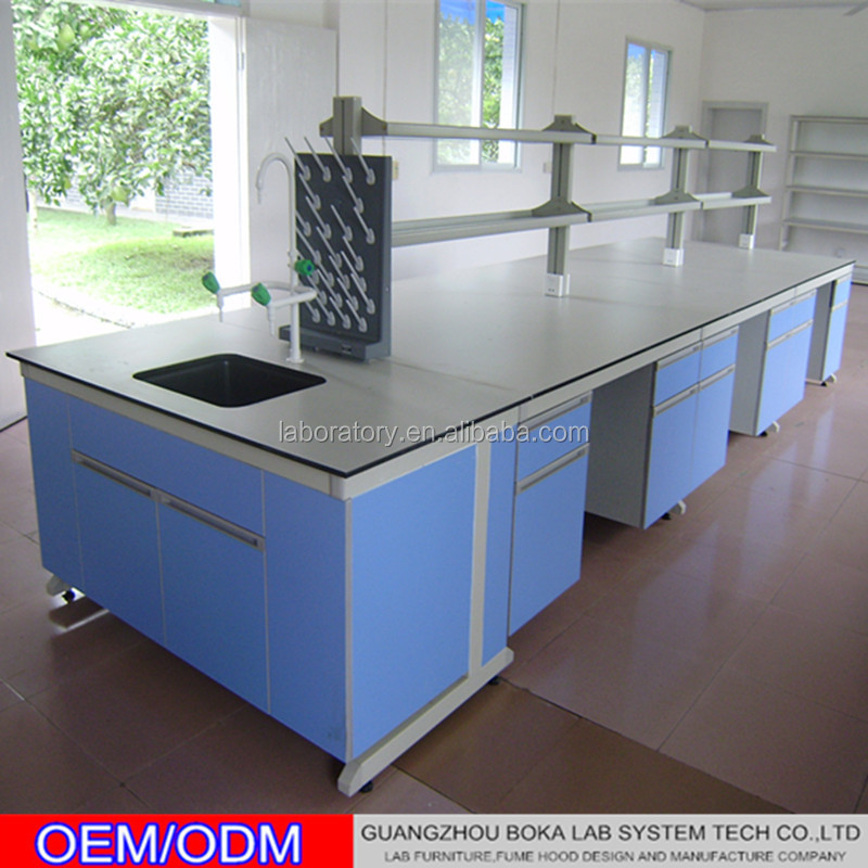 University epoxy resin tops chemical laboratory bench