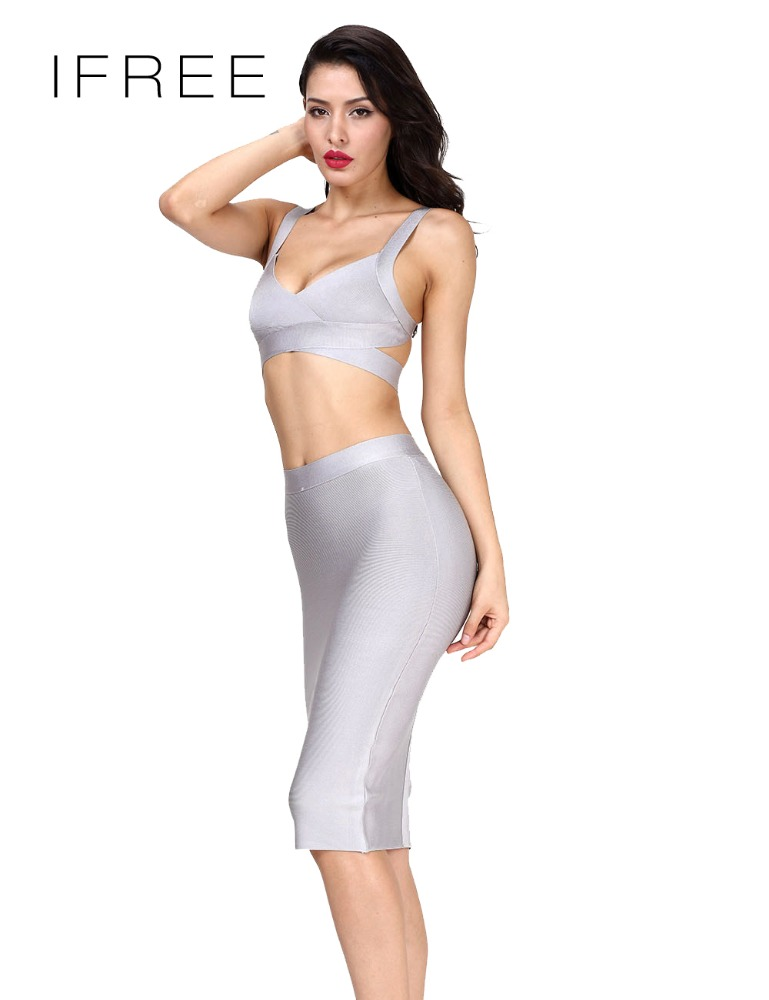 Trendy Vestidos Elegant Net Frock Design Bodycon Hot Sexy Night Sleeping Dress Backless Two Piece Bandage Dress