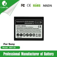 replacement mobile phone battery for Sony SO-ER K800 ,whit print stickers