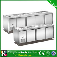 Table Top Salad Bar Refrigerator For Commercial Use In Hotel 320L