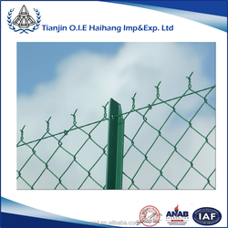 Galvanized/PVC coated chain link fence( diamond wire mesh)