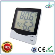 Temperature Humidity Meter RoHS CE Electronic Clock Hygrometer Thermometer Digital