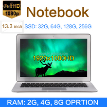 world cheapest laptop 13.3inch laptop 2/4/8G Ram DDR3 32/64/128G/256G netbook Win10