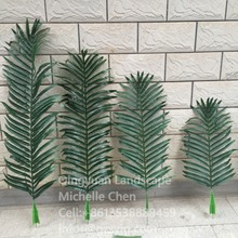 factory wholesale decorative fake coconut palm trees big green artificial coconut palm tree leaves