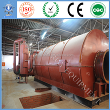 The Latest technology pollution-free auto discharging style waste plastic / rubber pyrolysis machinery