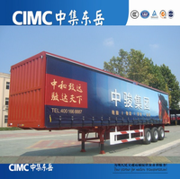 CIMC 3 axles 40 tons curtain side trailer 40ft container trailer price