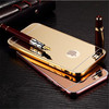 Aluminum Bumper Ultra-thin Mirror Metal Case For Apple iPhone 5s 6 6s Plus