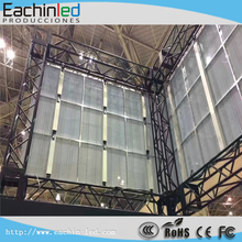 Transparent LED advertise glass video wall in shopping mall P16