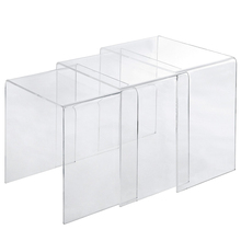 Clear acrylic end tables nested each other for easy organizing acrylic <strong>furniture</strong>
