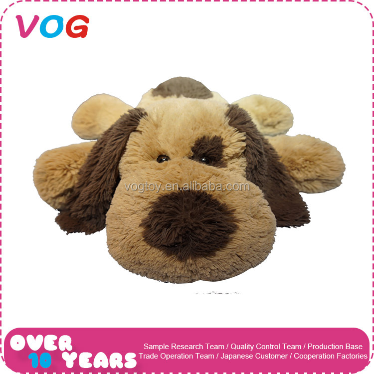 Factory wholesale good quality plush golden retriever toy tummy dog for baby and adult